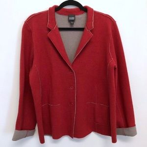 🆕 Eileen Fisher | Red Merino Sweater Blazer